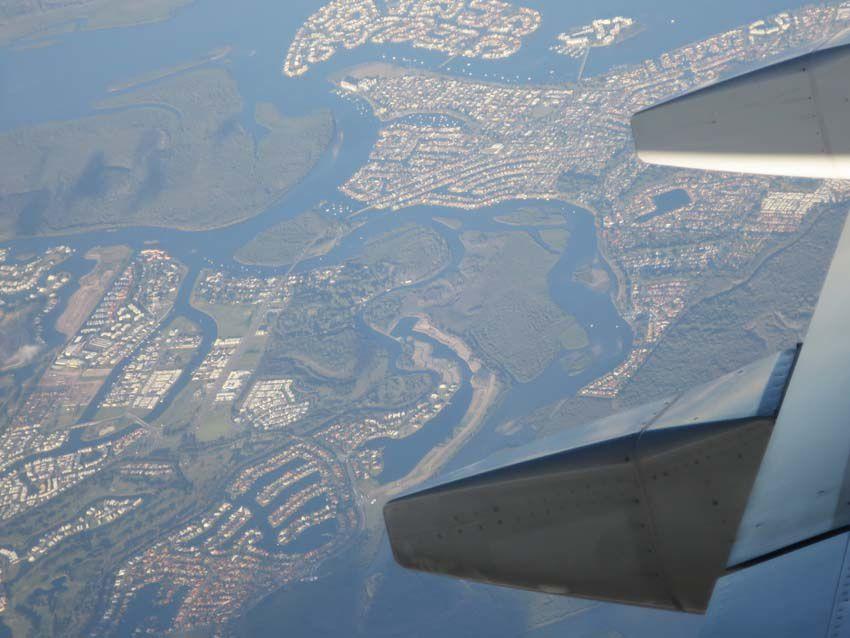 Les canaux à l'arrière de la Gold Coast. Ph. Delahaye.