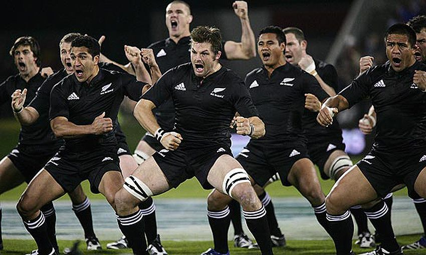 Le haka des All Blacks. Ph. empruntée.