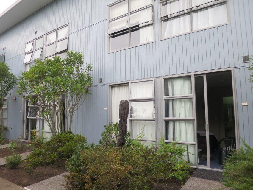 L'Auberge de jeunesse avec ses logements particuliers et la cuisine commune. Ph. Delahaye.