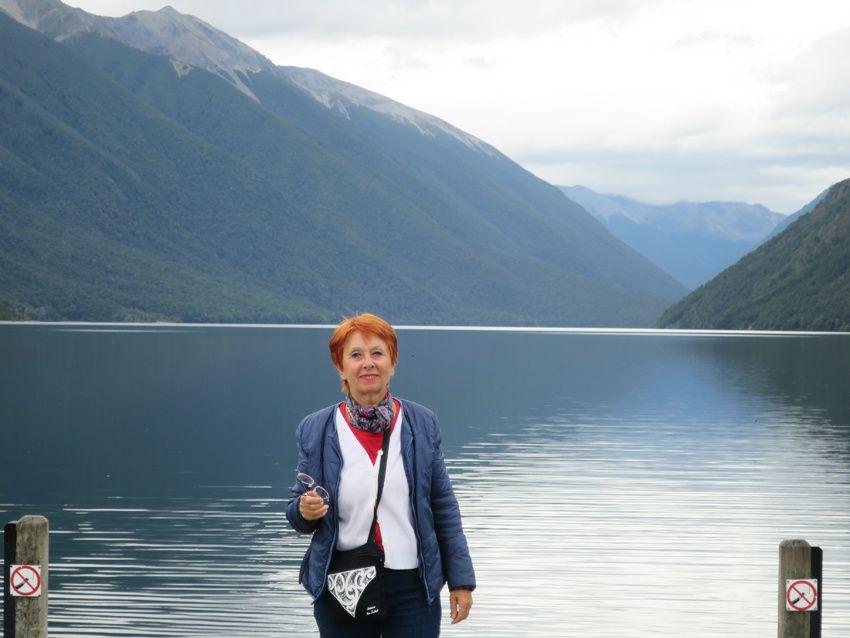 Le lac Roto-iti, paradis des canards, des cygnes noirs et des anguilles. Ph. Delahaye.