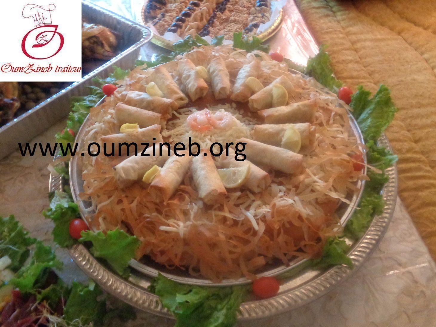pastilla au poisson+salade royale+poulet