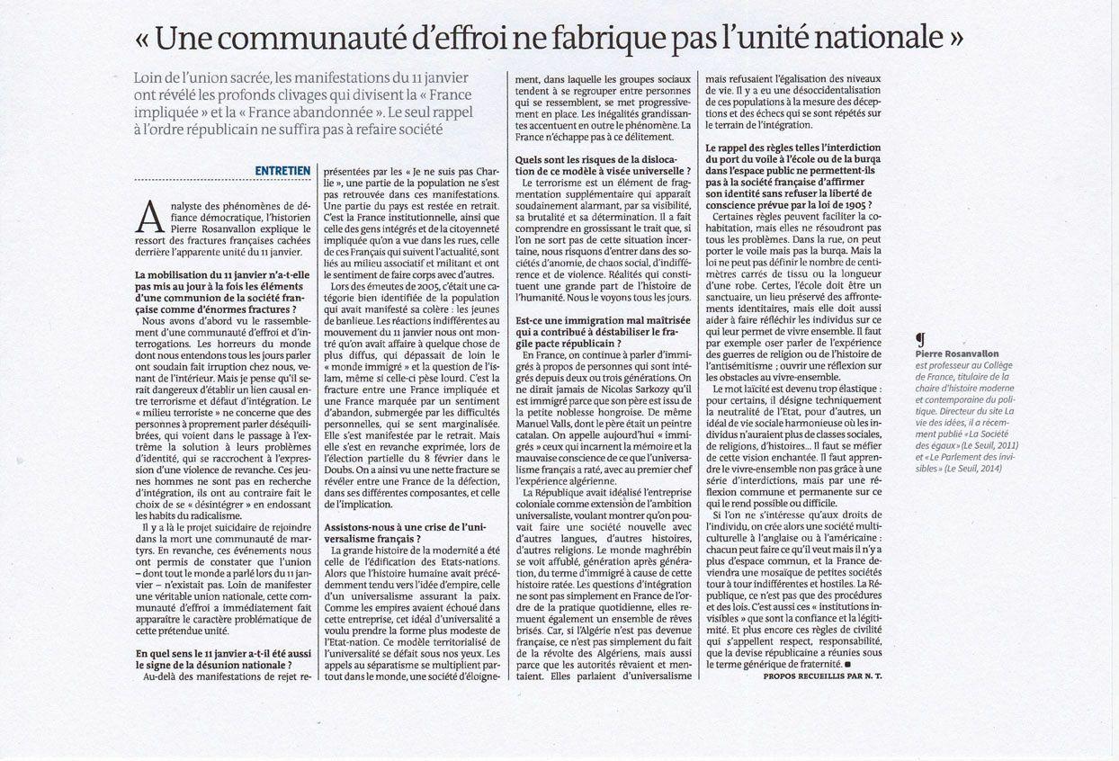 Le Monde 12.02.2015
