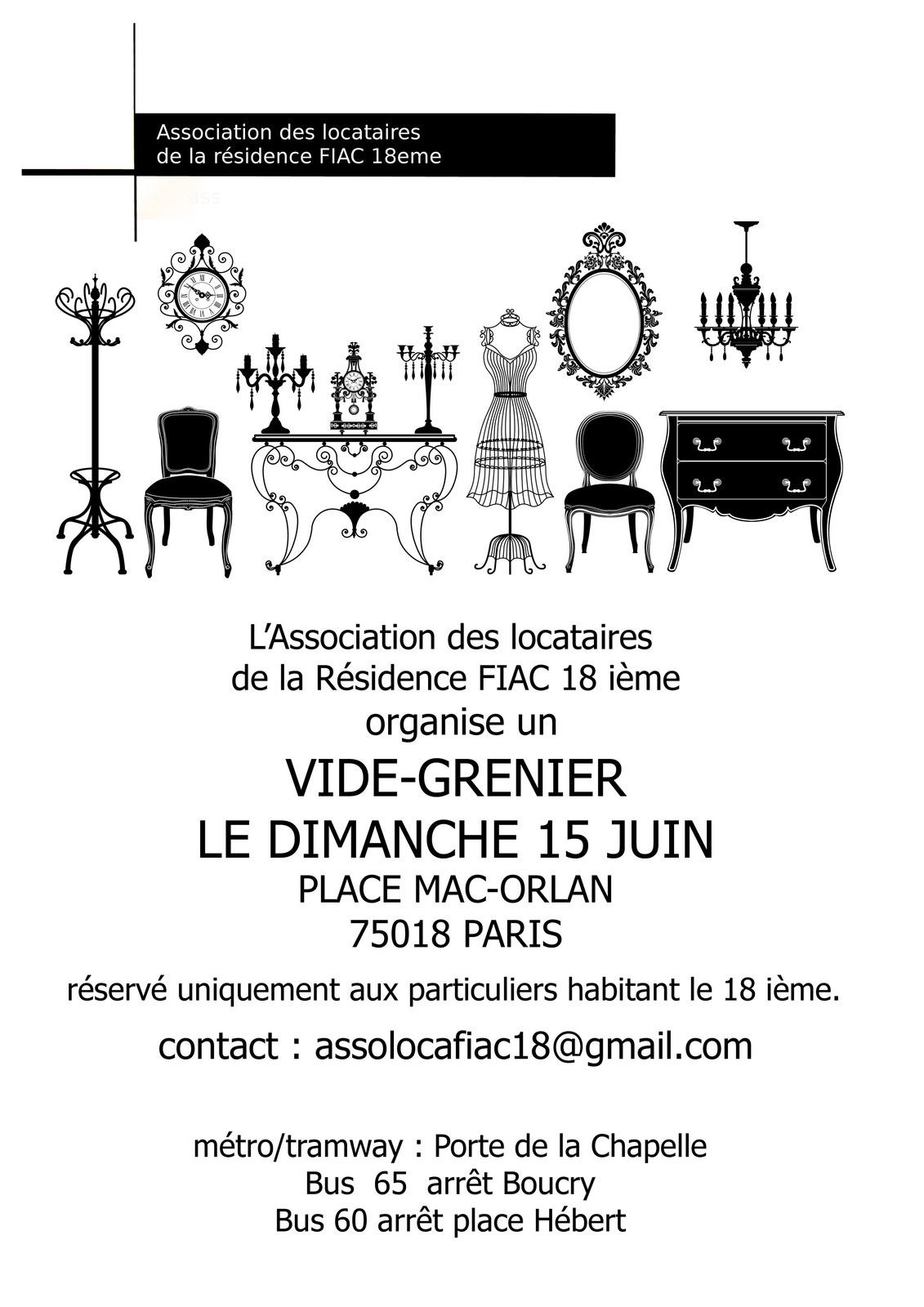 Vide-grenier place Mac-Orlan dimanche 15 juin 2014