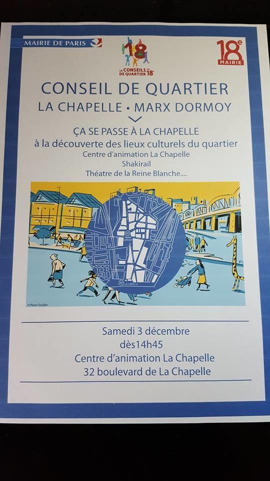 Conseil de quartier La Chapelle pour une balade culturelle dans le quartier samedi 3 décembre 2016