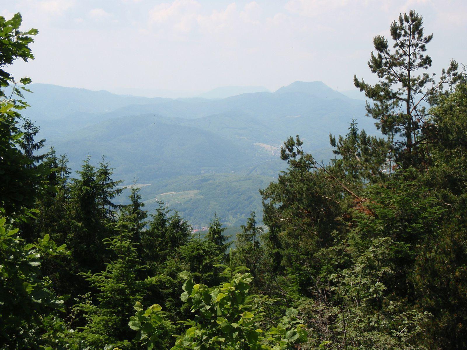 Le sommet et le Climont, depuis le haut de la tour.