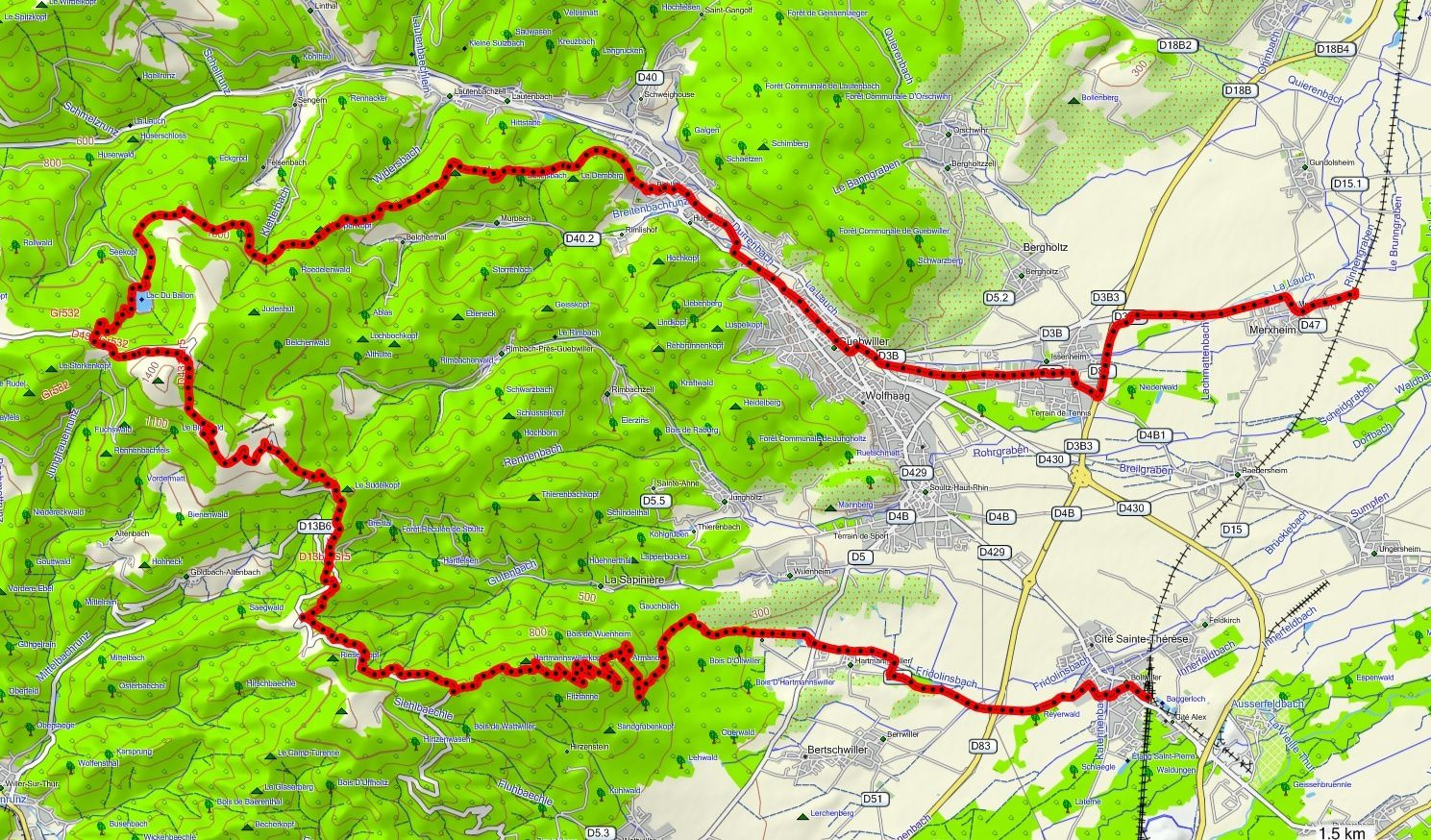 VTT Grand Ballon - 16 juin 2013