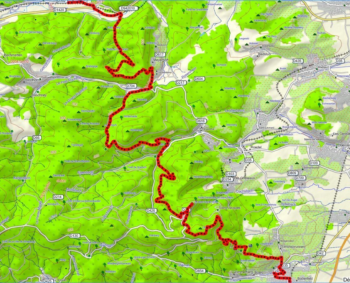 VTT Mont Sainte Odile - 22 avril 2017