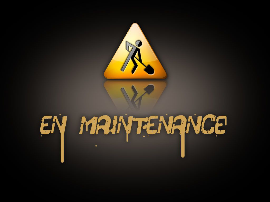 Blog en maintenance