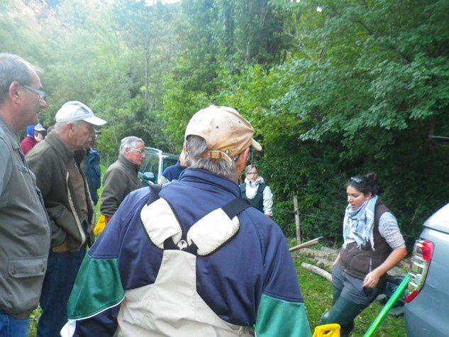 Pêche électrique de suivi de population sur la Gervanne ( 30/09/2015)