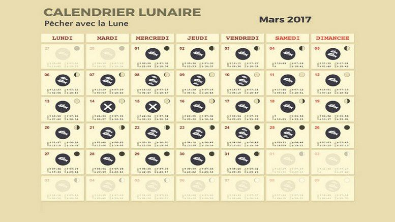 calendrier lunaire mars 2017. Black Bedroom Furniture Sets. Home Design Ideas