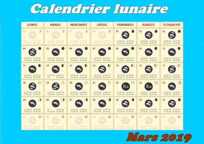 Calendrier Solunaire.Calendrier Lunaire De Mars 2019 Truitepassion Fr