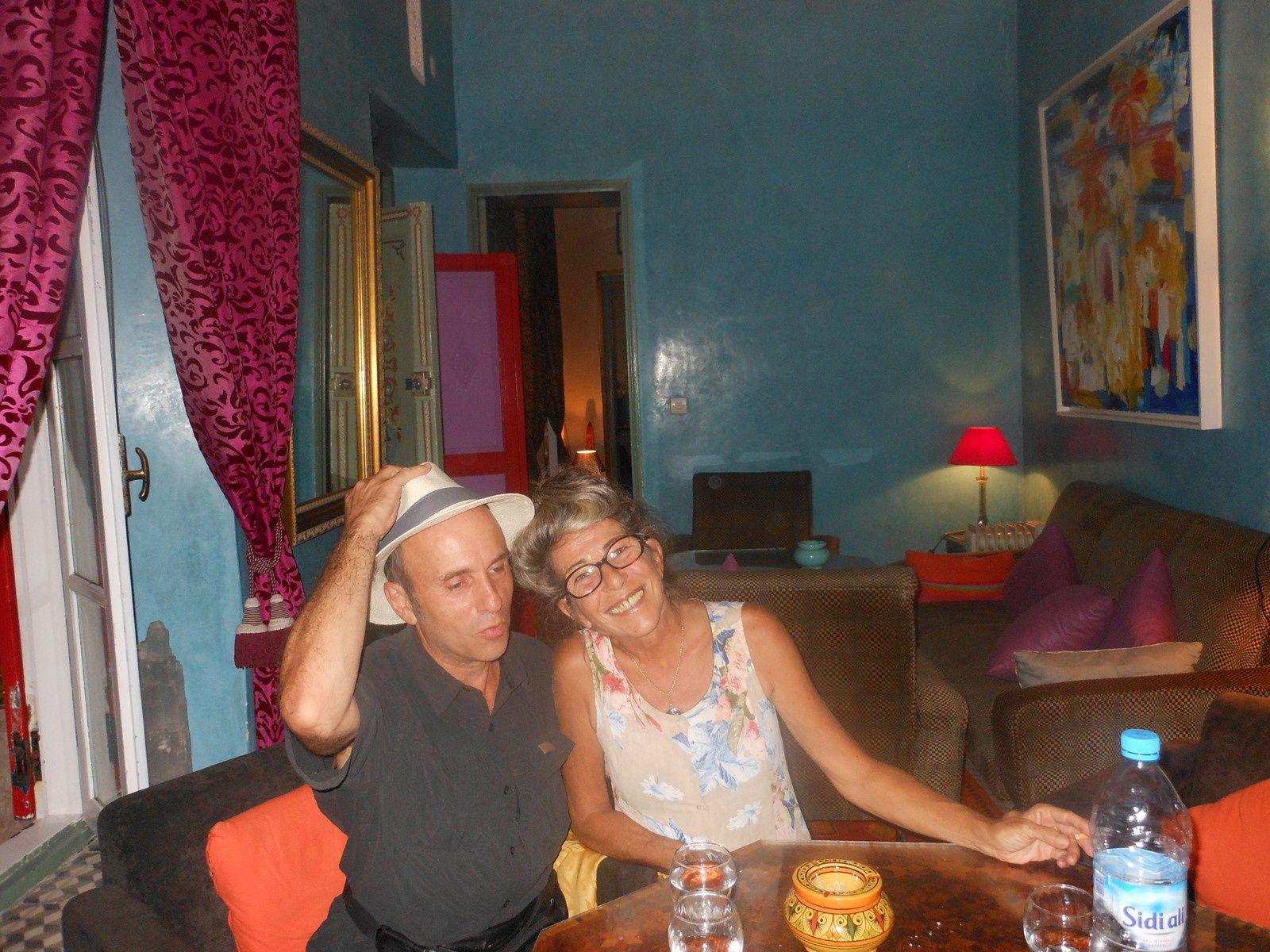 Christine et J-P à Essaouira.