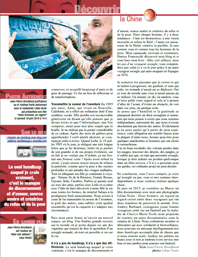 """Edition n°167 du magasine """"Globe-Trotters"""". page 2"""