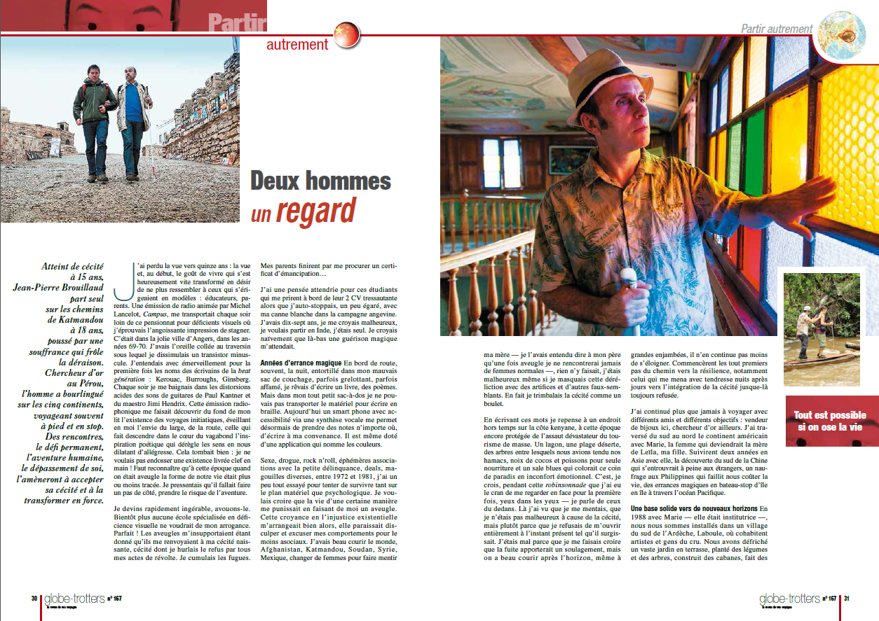 "Edition n°167 du magasine ""Globe-Trotters"". page 1"