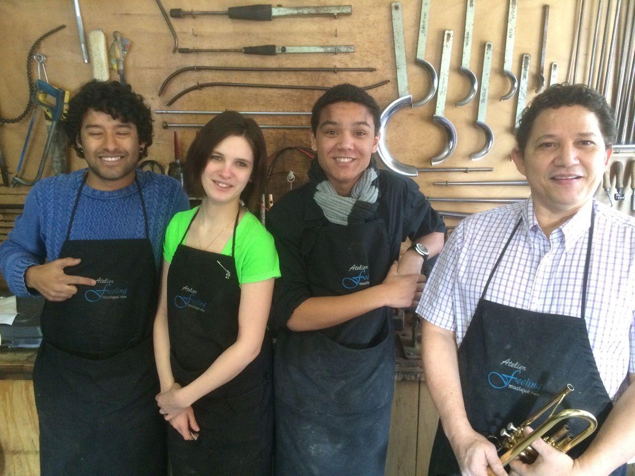 Julian Ortiz, Elodie Andraud, Kylian Maugan, Luis-Edgardo Blanco