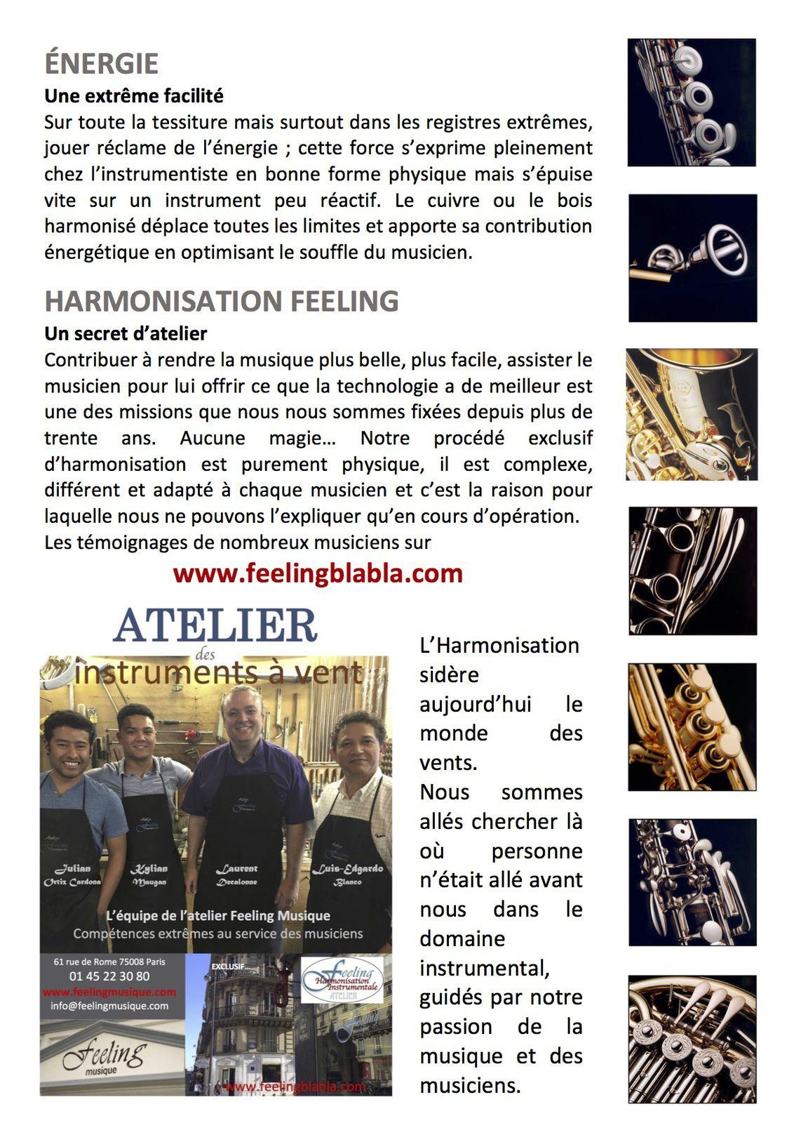 En 4 pages, les effets de l'Harmonisation Feeling