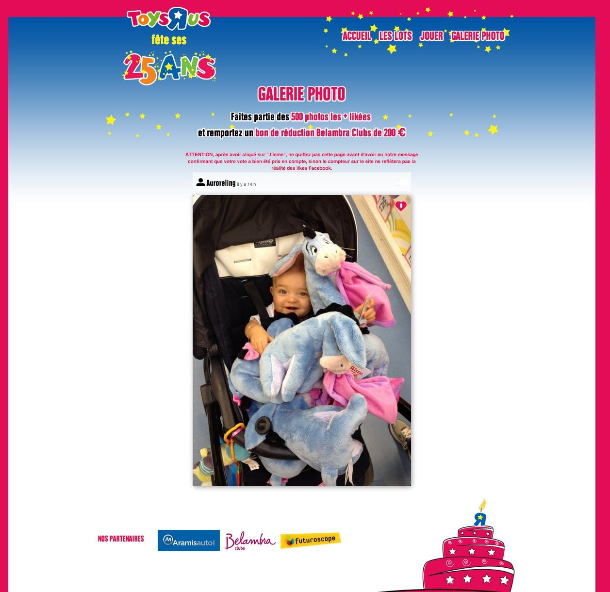 Concours Toys'rus 25 ans