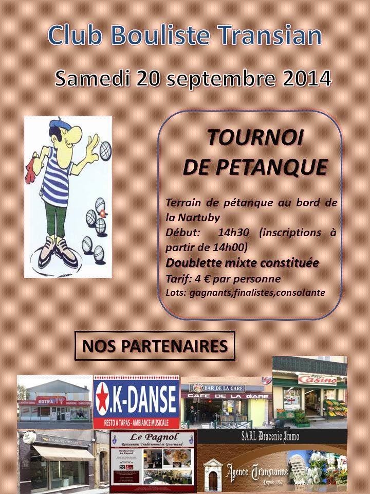 Tournoi de Pétanque...