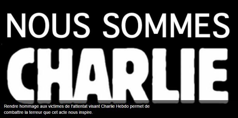 Charlie...Nous sommes aussi !