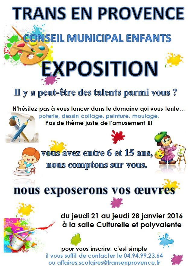 Exposition d'oeuvres juvéniles....
