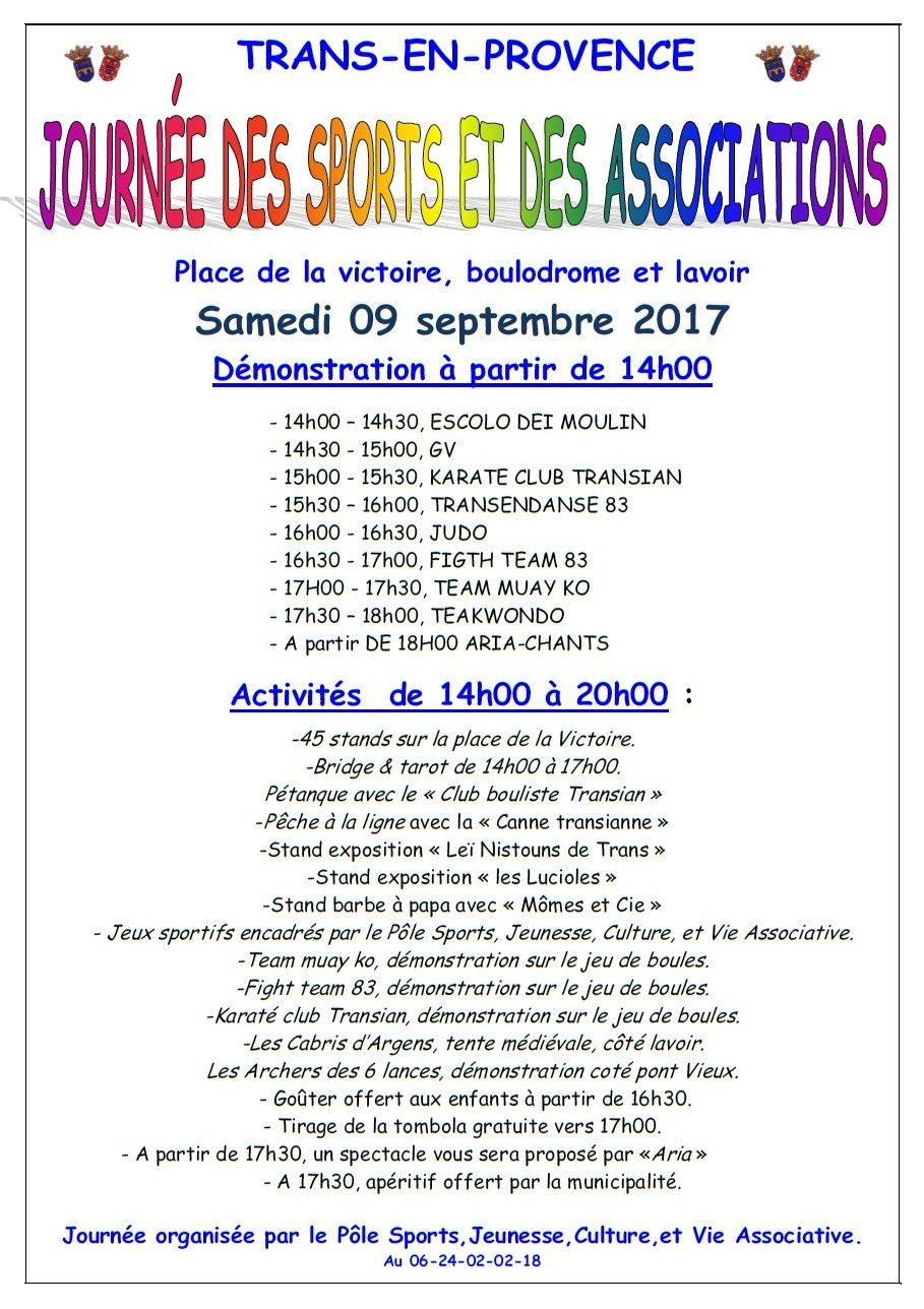 Journ e des associations le blog de trans en - Journee des associations salon de provence ...