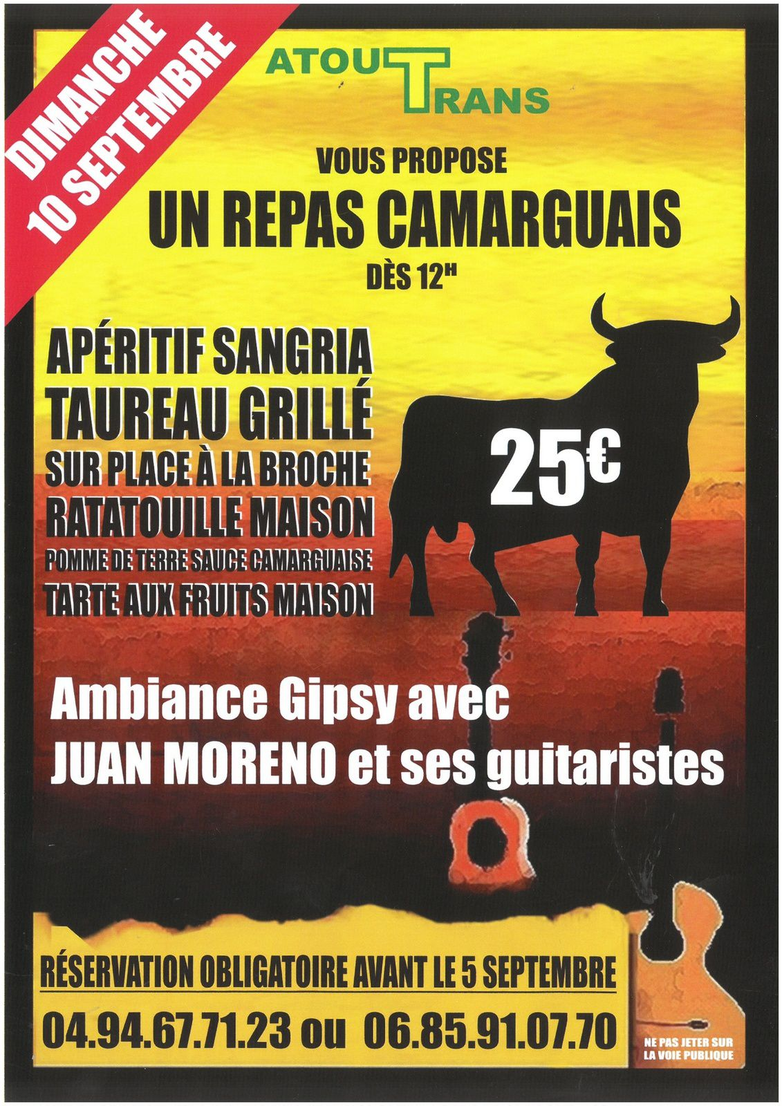 Repas Camarguais et ambiance Gipsy