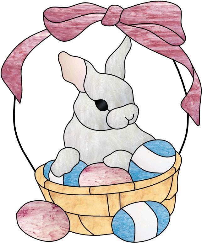 Vitrail ' Lapin de Pâques '