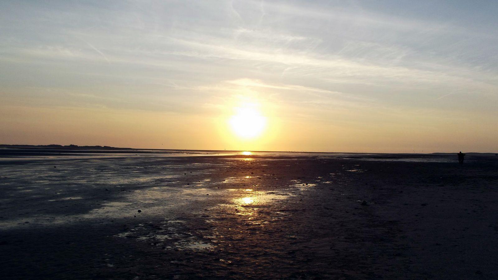 Coucher de soleil sur la Baie de Somme.