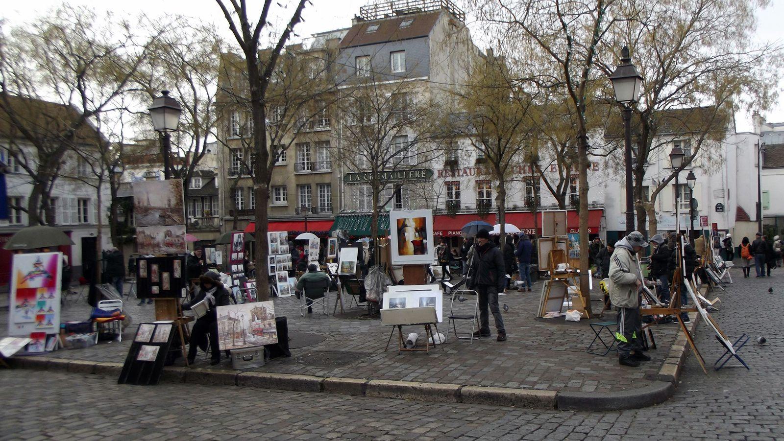 Paris, Montmartre, Place du Tertre, le Sacré Coeur