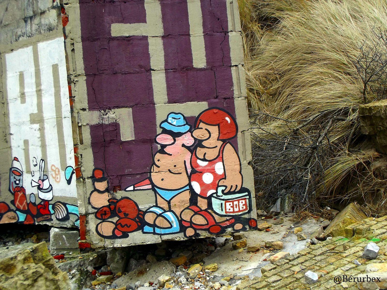 Le blockhaus aux miroirs  de Leffrincoucke près de Dunkerque et le fort des dunes..