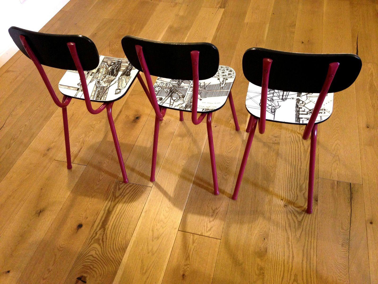 3 chaises DEMOISELLES DE LA TOUR EIFFEL, 348€ © SophieLDesign