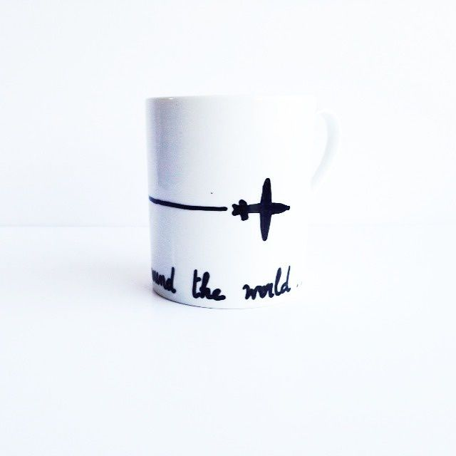 Tasse AROUND THE WORLD, 12€. © SophieLDesign
