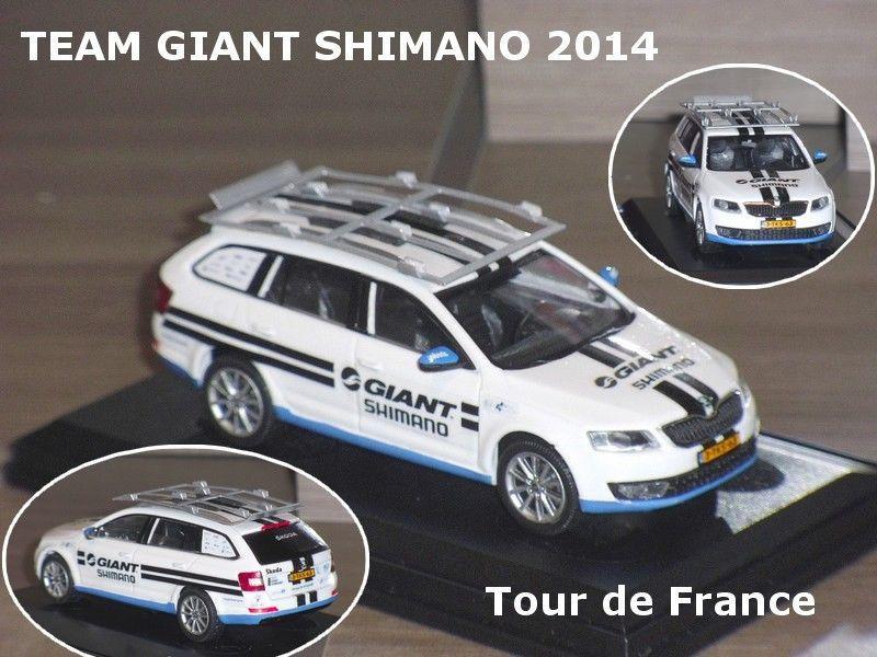 Miniatures des véhicules d'équipes cyclistes 2014