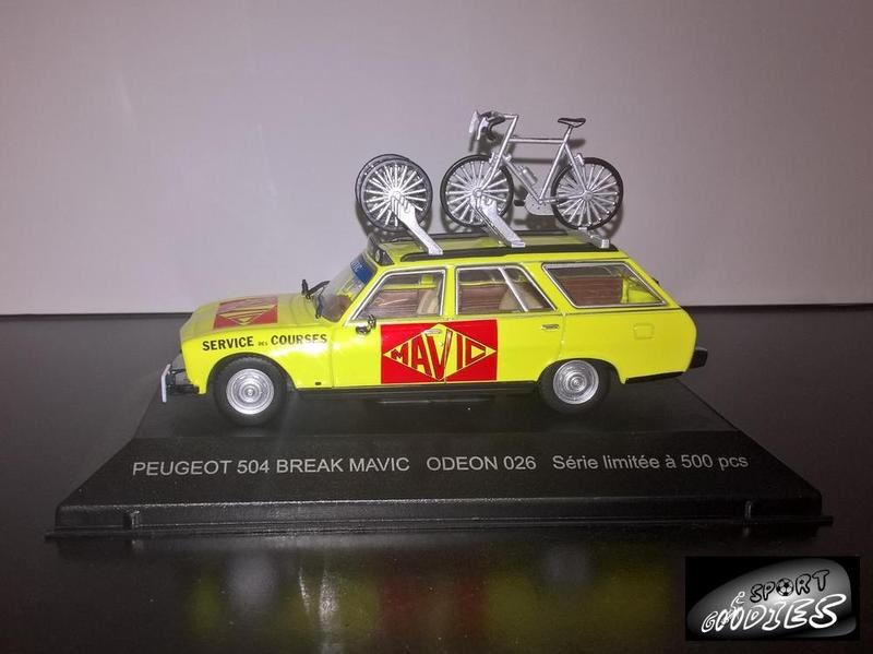 PEUGEOT 504 break MAVIC Tour de France cycliste 1977 1//43 velo