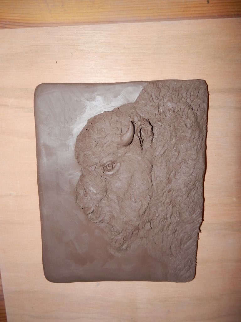 Le Bison (Dimension crû : 14.5 cm x 18.5 cm)