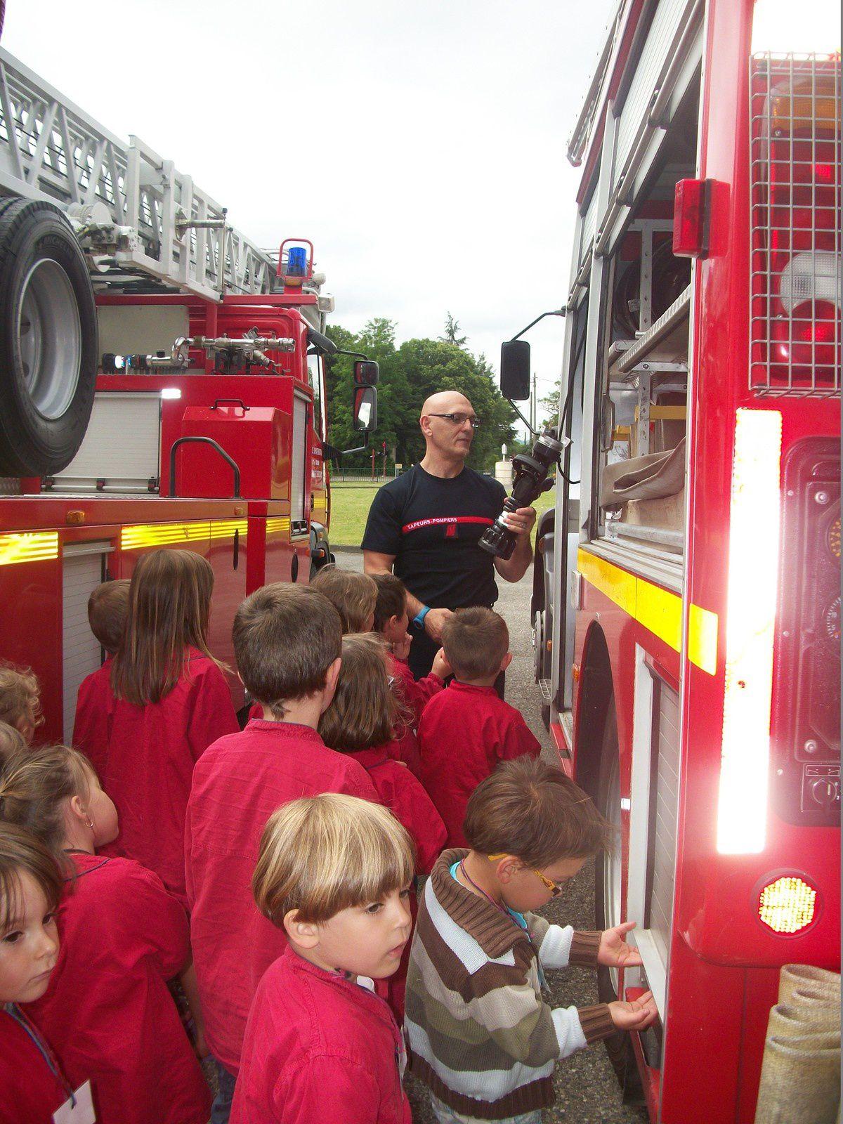 Visite de la caserne des pompiers maternelle Saint-Sylvestre