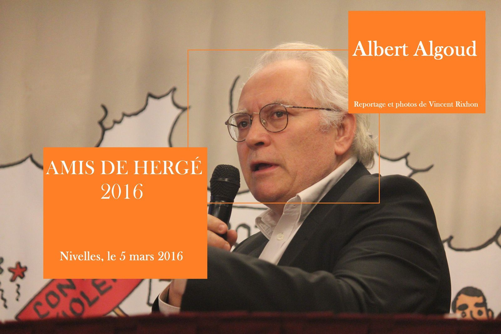Albert Algoud aux AMIS DE HERGE 2016