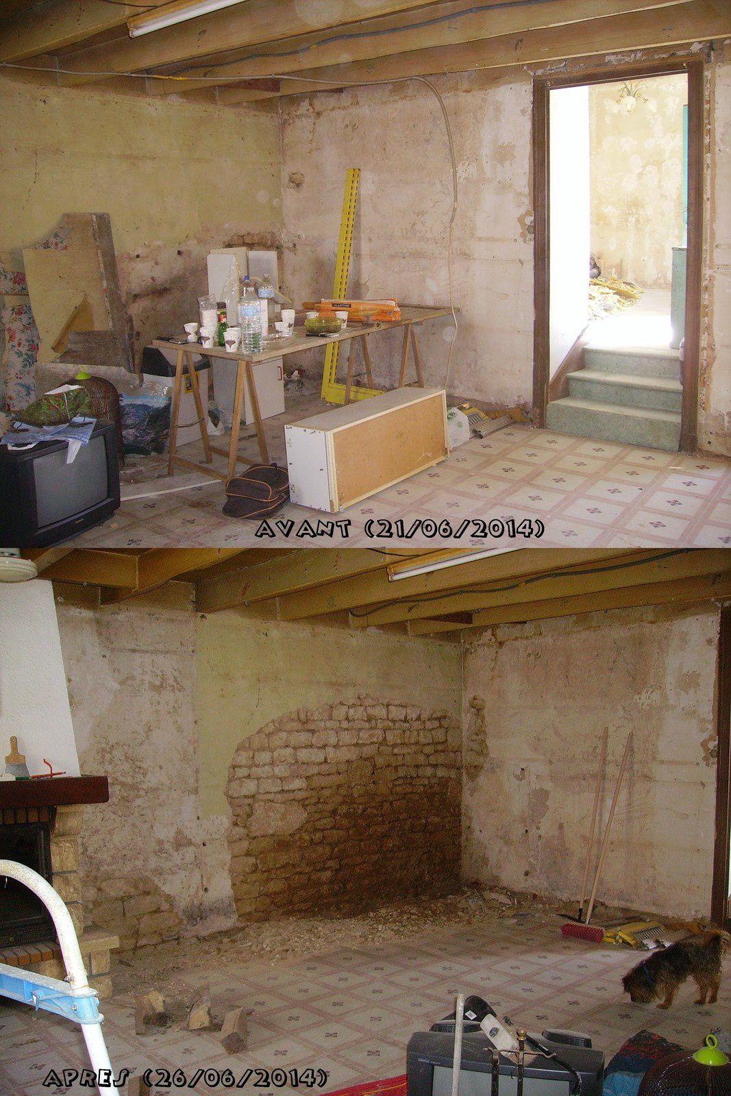 Maison Cherveux, petites photos avant et après cassage