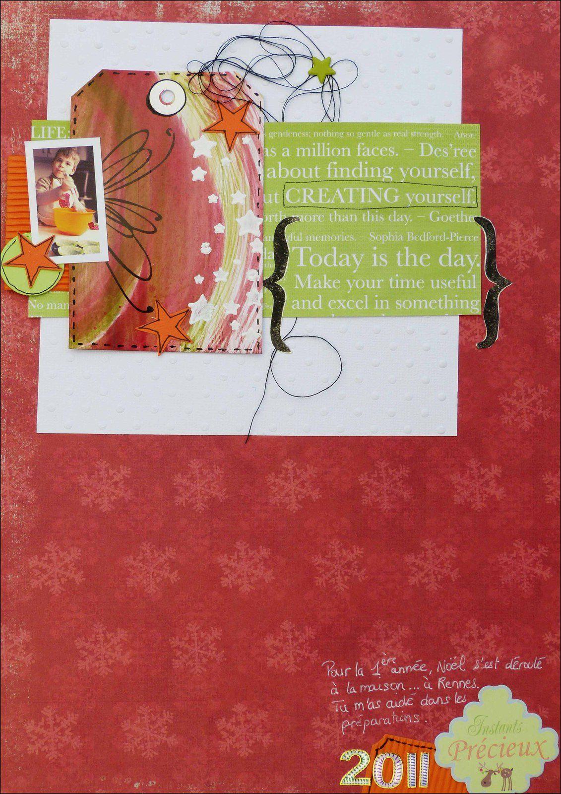 J'ai retrouvé une mini photo de Noël 2011... pfff pas tout jeune tout ça &#x3B;-)))