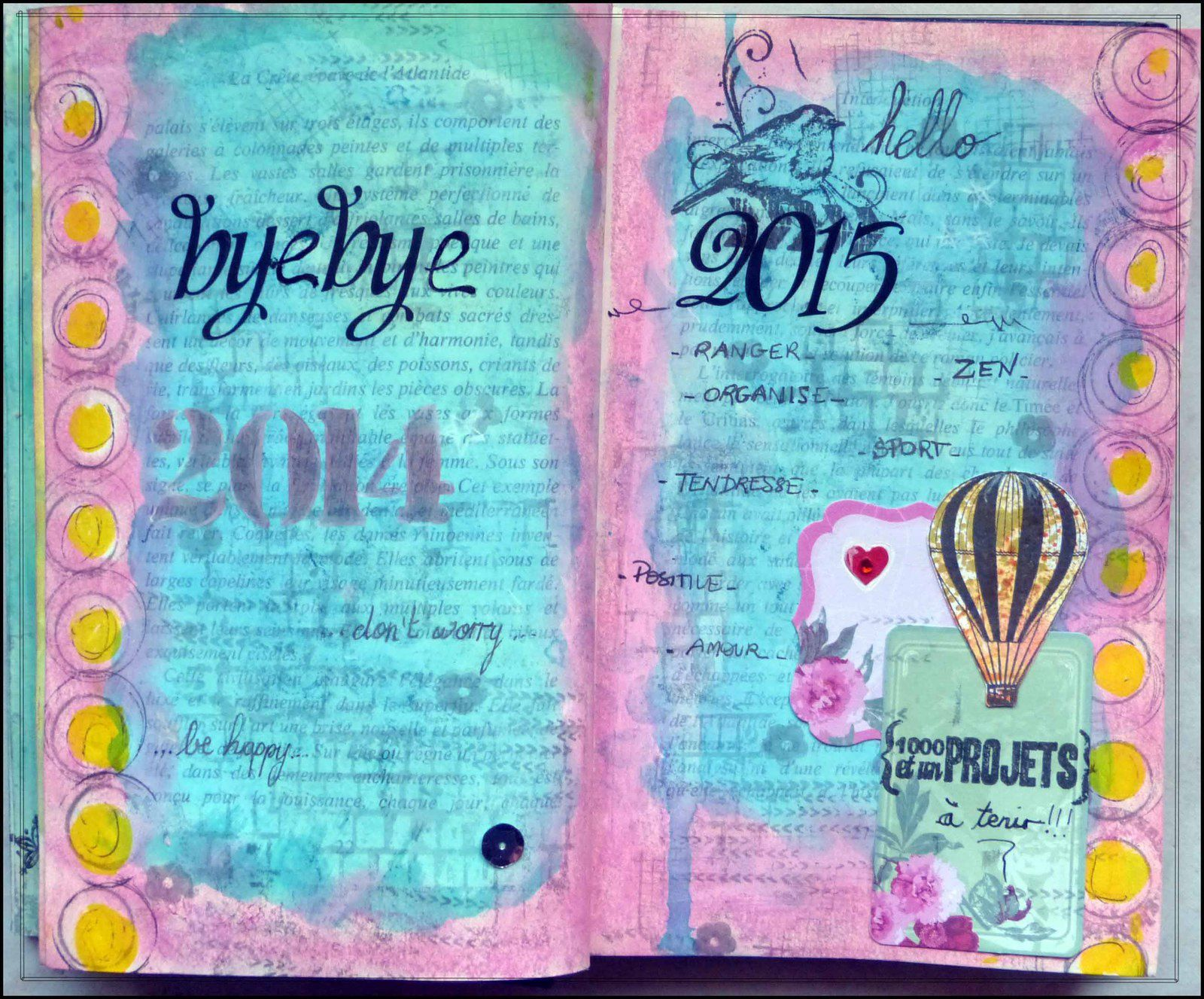 Book of Me version art journal