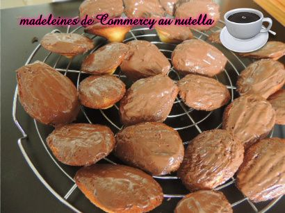 Madeleines de Commercy au Nutella