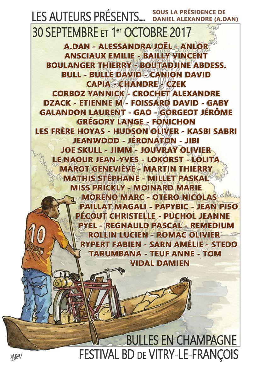 Les auteurs de cette 13ème édition... liste qui sera actualisée régulièrement...