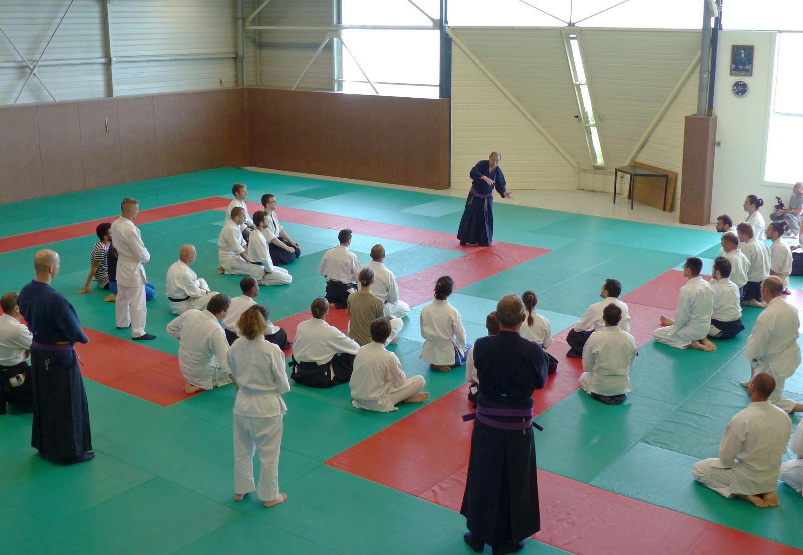 Yasuhiro Irie en plein cours (auteur : Aïki-kohaï)