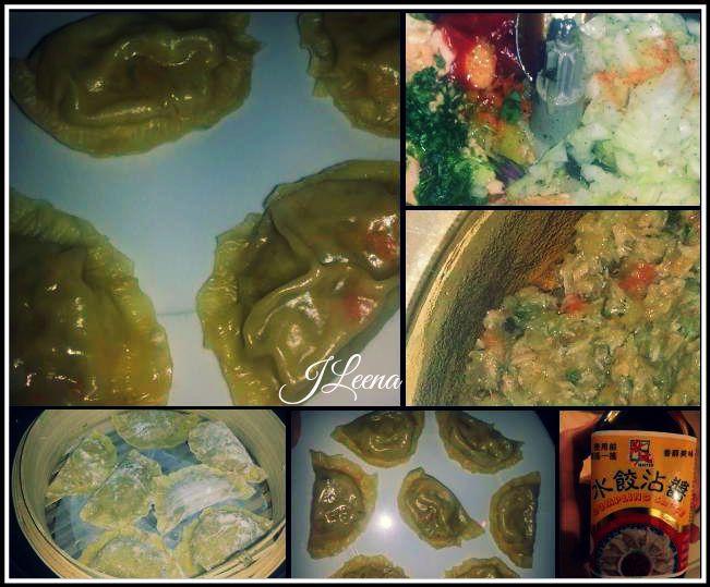 Raviolis vapeur au saumon et legumes au COOKEO