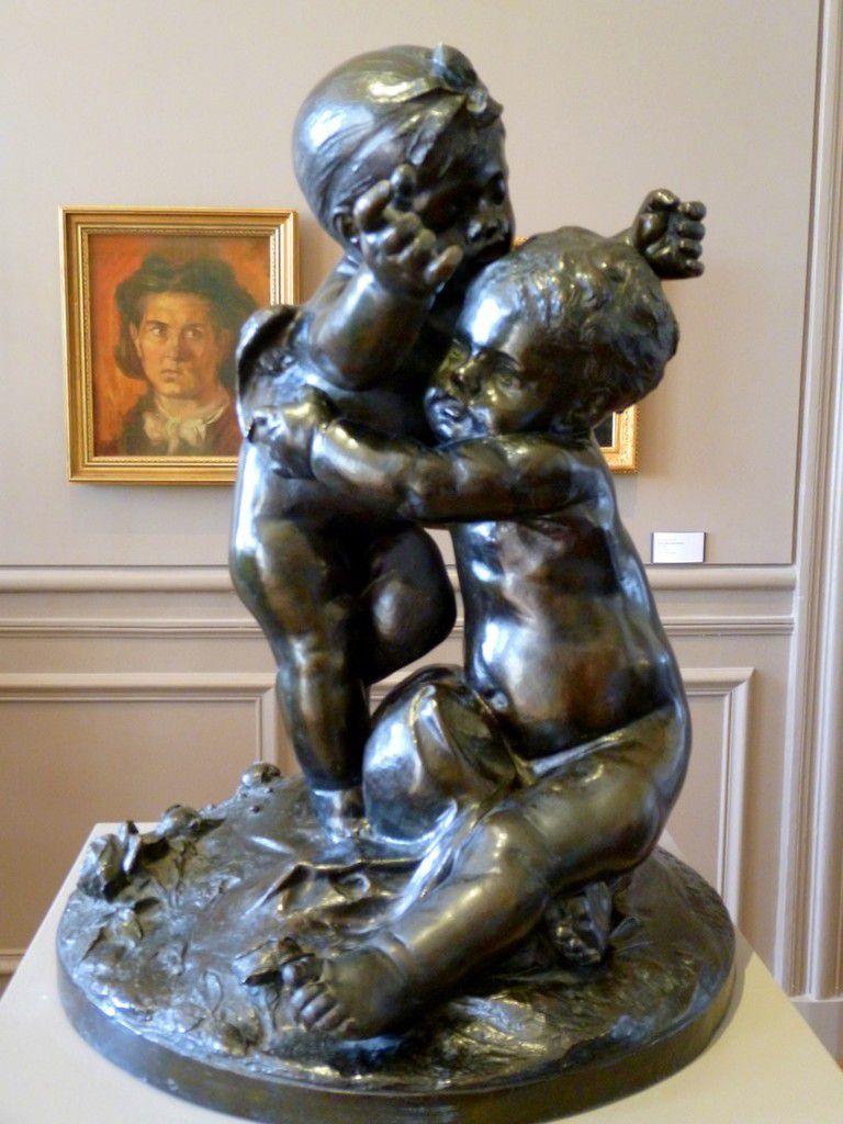 Quelques sculptures en bronze ou des plâtres d'oeuvres de Rondin conservées dans le musée (mars 2014, images personnelles)