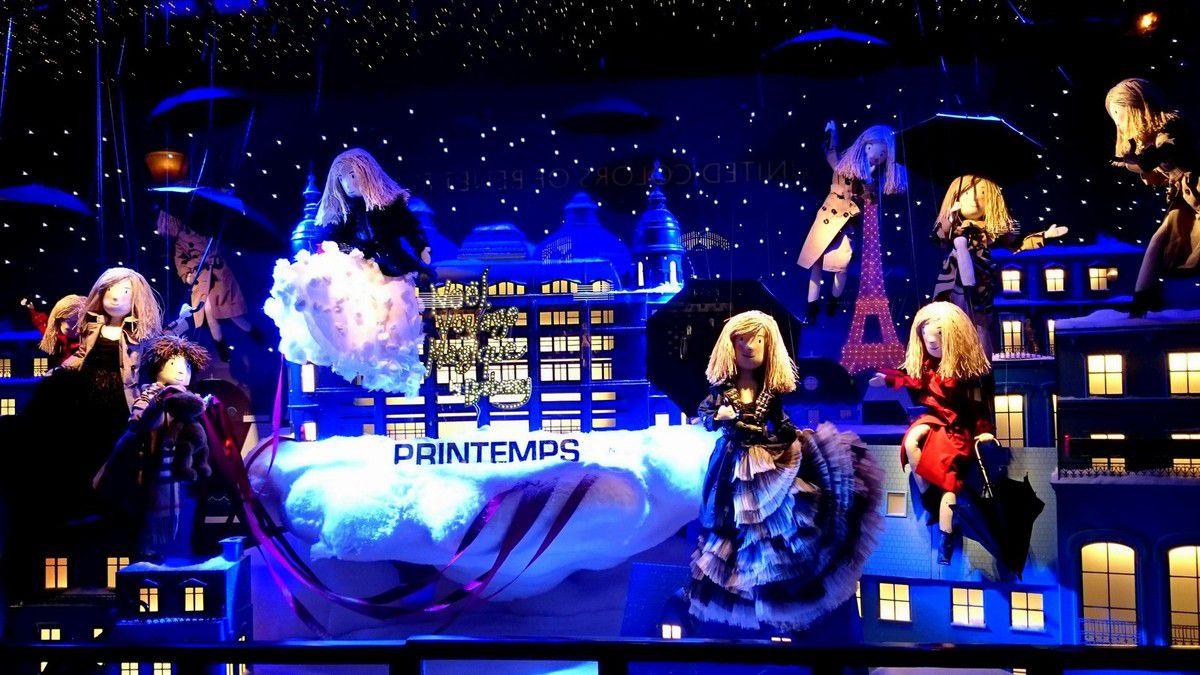 diaporama des principales vitrines du magasin Printemps Haussmann (novembre 2014, images personnelles)