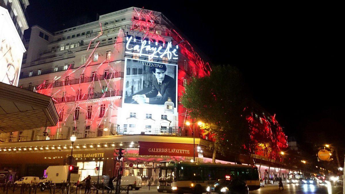 Illuminations des grands magasins parisiens, décembre 2014