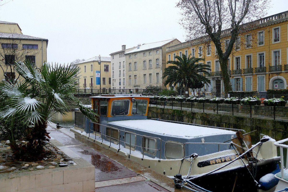 Narbonne sous la neige