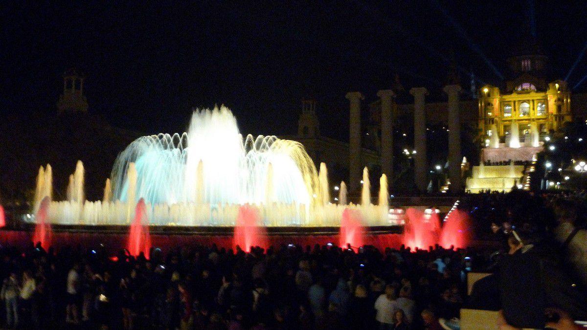 Les fontaines magiques de Montjuic (avril 2015, images personnelles)