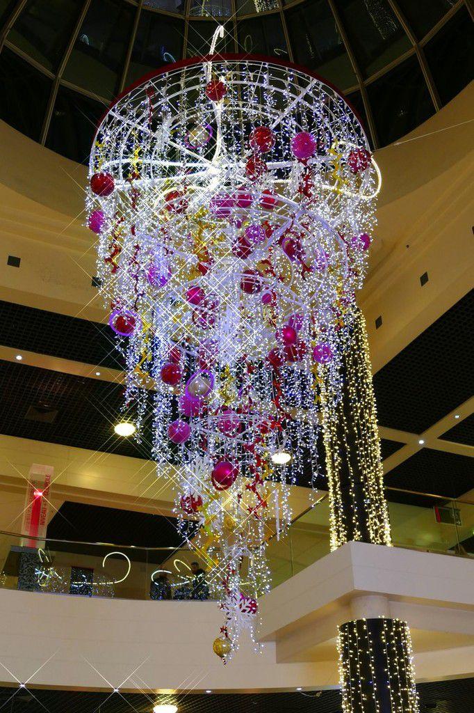 Détails des décorations de Noel 2016 au Polygone Montpellier ( décembre 2016, images personnelles)